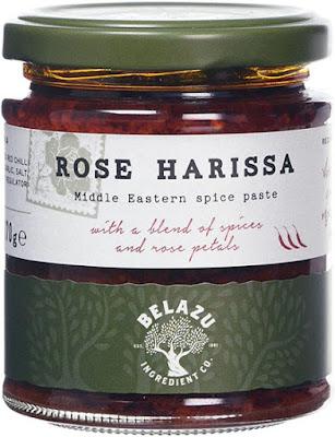 A jar of rose harissa paste