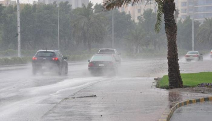 The closure of many of the main streets in Egypt due to the heavy rain, including the (The 5th Settlement)