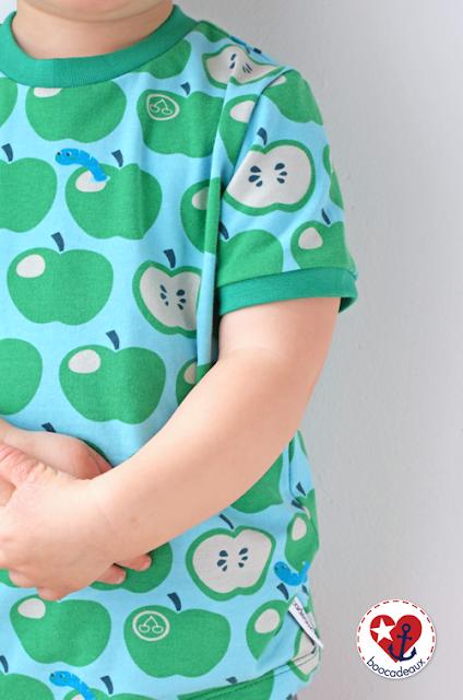 Basic Shirt aus Äpfel mit Wurm