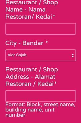 Shop name foodpanda