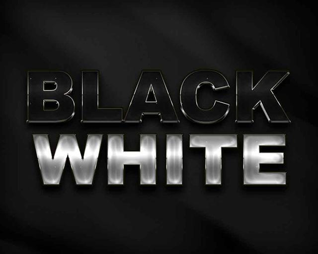 Black-White-Text-Style