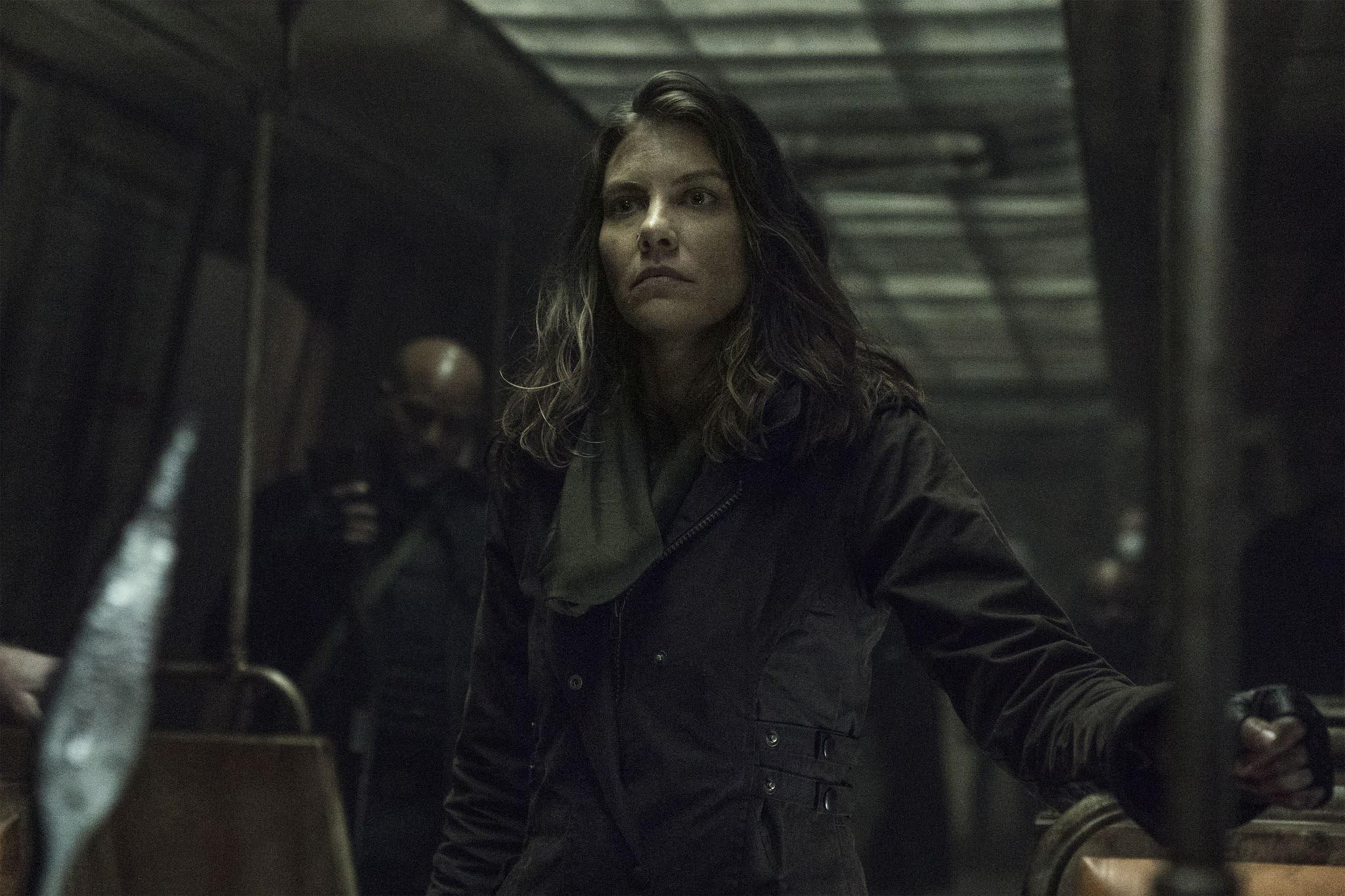 Maggie en el metro en The Walking Dead
