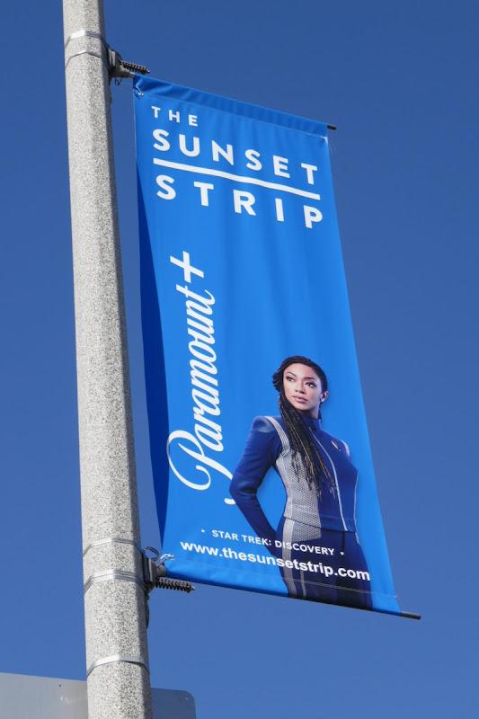 Star Trek Discovery Paramount+ Sunset Strip lamppost ad