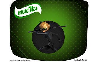 Etiqueta Nucita de Cat Noir para imprimir gratis.