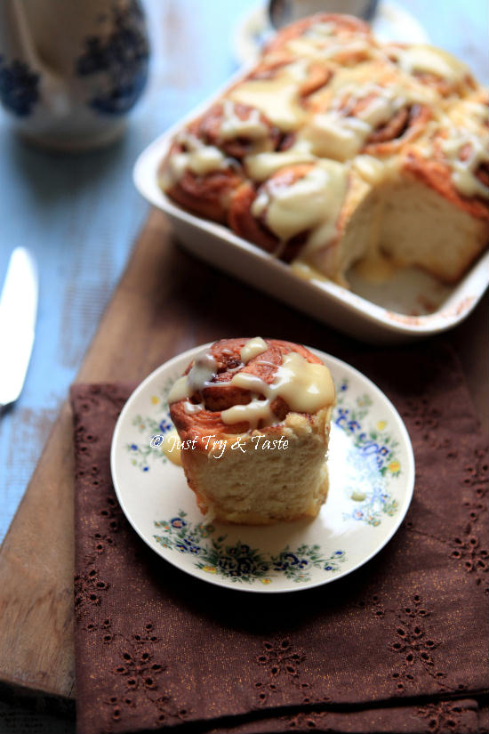 Resep Cinnamon Rolls dengan Cream Cheese Glaze