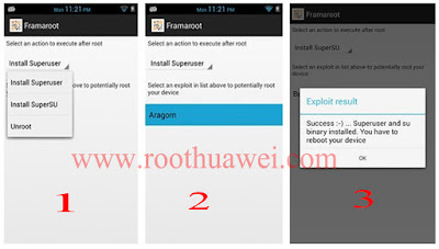 Rooting Huawei Y6II with FramaRoot.apk