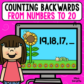 Counting backwards from 20 activities you can play on a device!