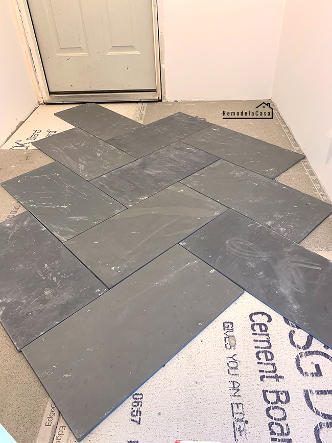 how to install slate tile flooring