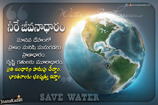 telugu messages about water, water importance slogans in telugu, water greatness to future, best messages about water in telugu