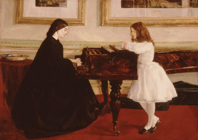 James Whistler - Al piano - 1858-59