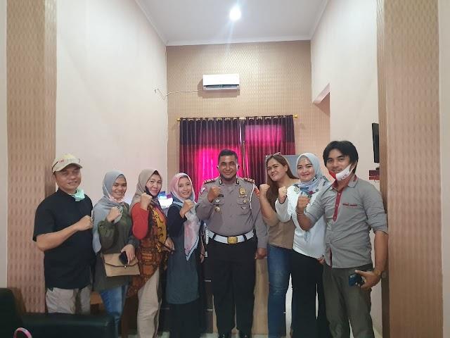 Silaturahmi Media Dan Polisi Di Pesawaran