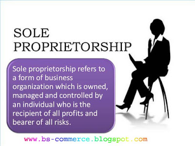 What Is Sole Proprietorship Bachelor Of Science In Commerce