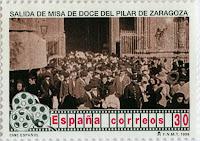 SALIDA DE MISA DE DOCE DEL PILAR DE ZARAGOZA