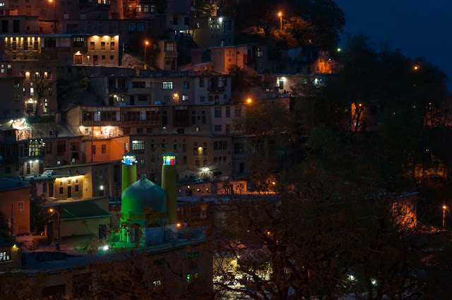 Masuleh at night; Gilan, Iran