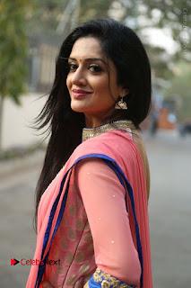 Actress Vimala Raman Stills in Beautiful Pink Salwar Kameez at (ONV) Om Namo Venkatesaya Press Meet  0108.JPG