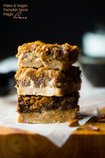 pumpkin spice paleo magic cookie bars recipe