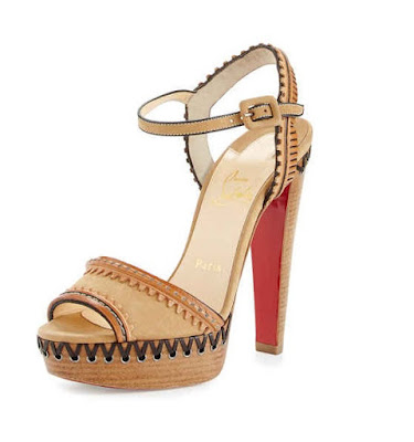 Christian Louboutin Calf Leather Platform High heeled Sandals