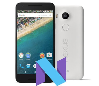 LG Nexus 5X Android N Nougat 7.1 Preview Firmware