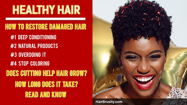 Does damaged hair grow back healthy