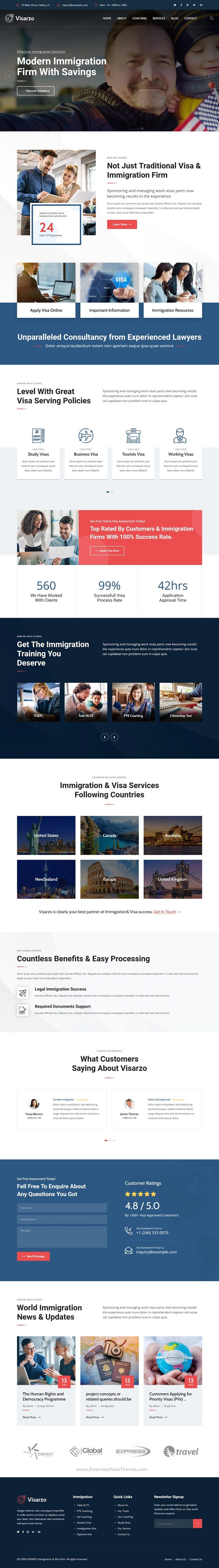 Immigration and Visa Consulting Website Theme