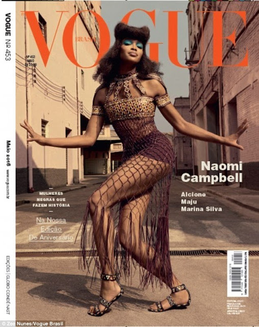 See How Sensational Naomi Campbell Looks As She Poses For Vogue Editorial Photoshoot