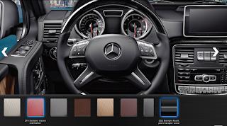 Nội thất Mercedes AMG G63 2018 màu Đỏ Leather ZF5