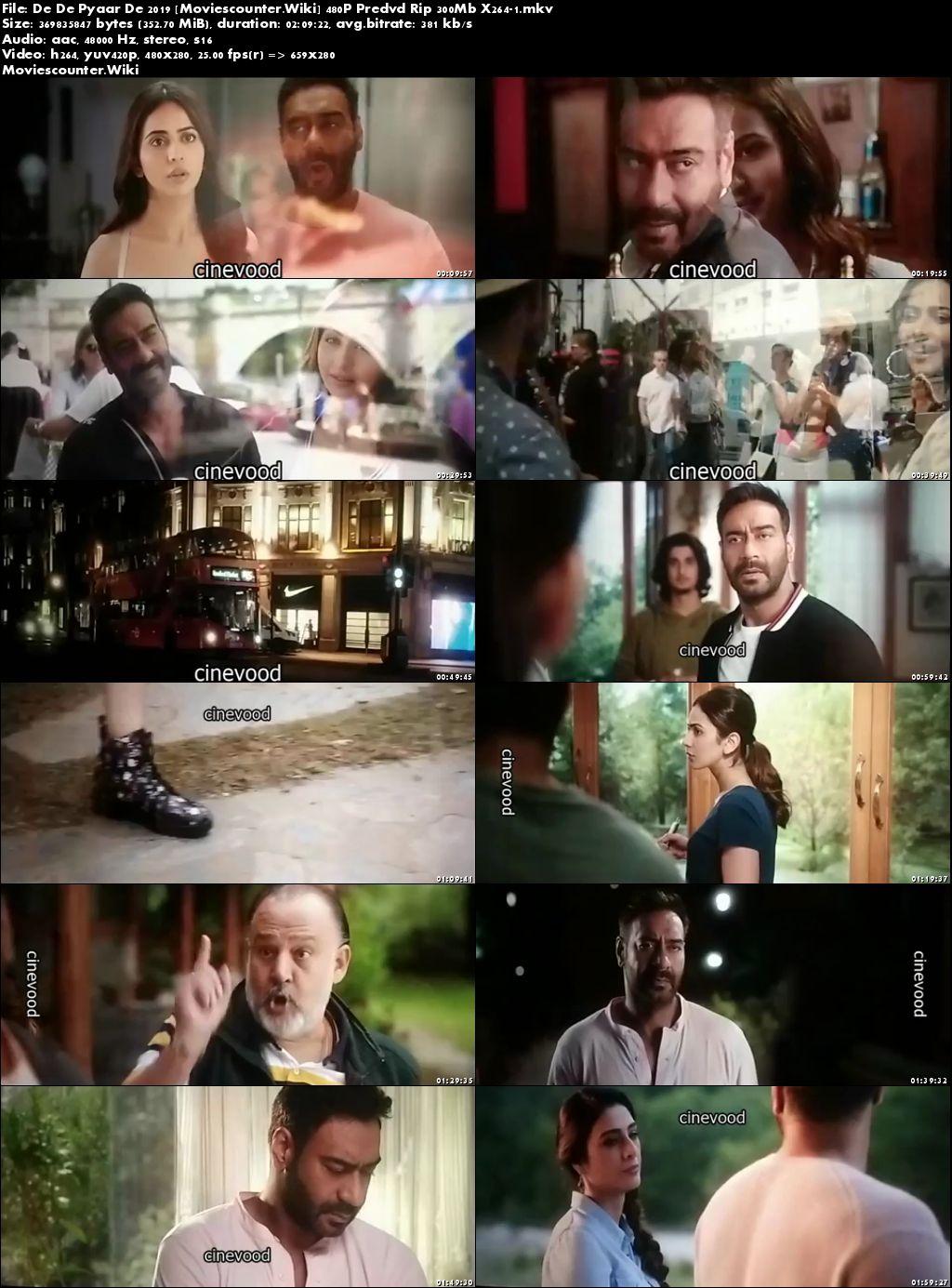 Screen Shots De De Pyaar De 2019 Hindi HD 300MB