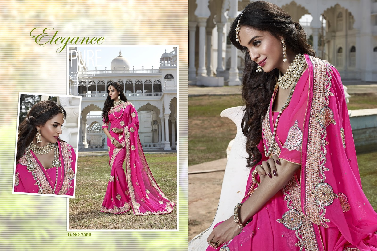 Apsara – Festive Wear Georgette Stylish Verity In Designer Saree