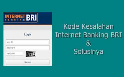 kode kesalahan internet banking bri