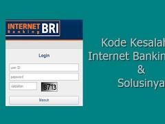 Ini Dia 9 Kode Kesalahan Internet Banking BRI dan Solusinya