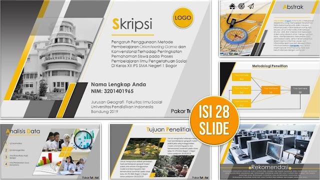 Contoh Slide PowerPoint Sidang Skripsi