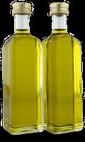 Duas garrafas de azeite