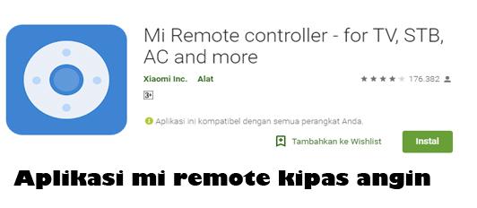 Remote kipas angin aplikasi