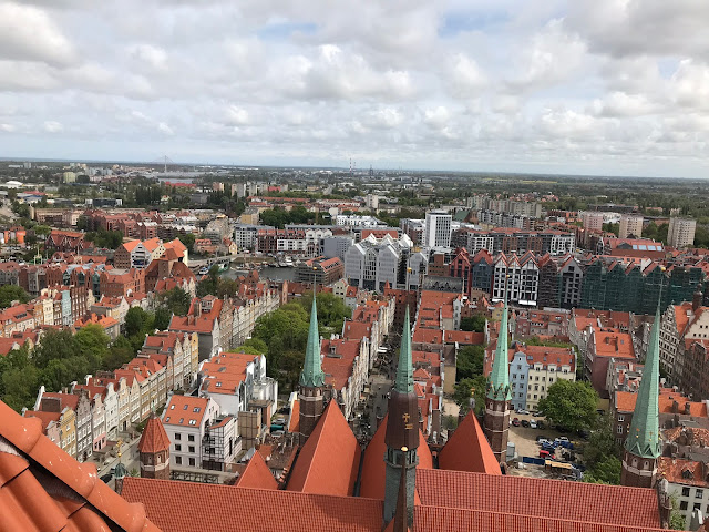 view of the rooftops across gdansk, poland