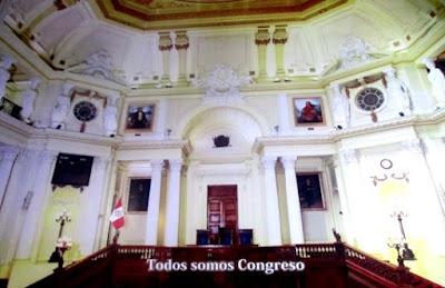Imagen del Antiguo Hemiciclo del Senado Nacional dentro del Museo del Congreso y de la Inquisición de Jesus Gómez