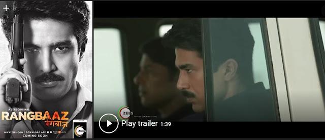 Play Rangbaaz (2018) Hindi Web Series Trailer online for free