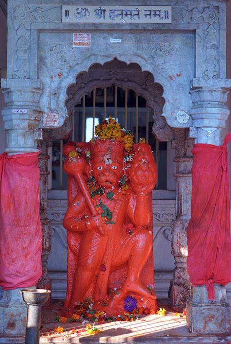 Mumbai, Hanuman, Walkeshwar, © L. Gigout, 1991