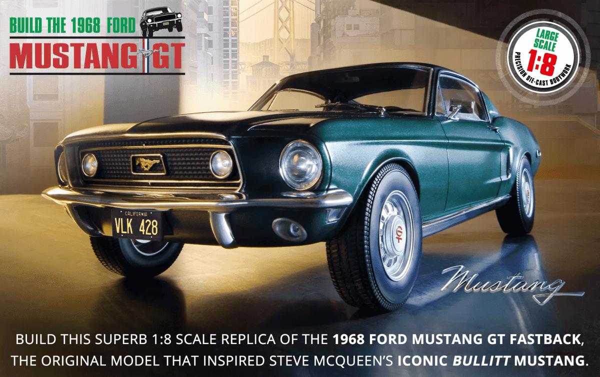 Built the 1968 Ford Mustang GT bullit scale 1:8 eaglemoss