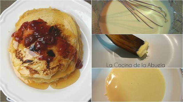 Tortitas, pancakes de leche condensada.