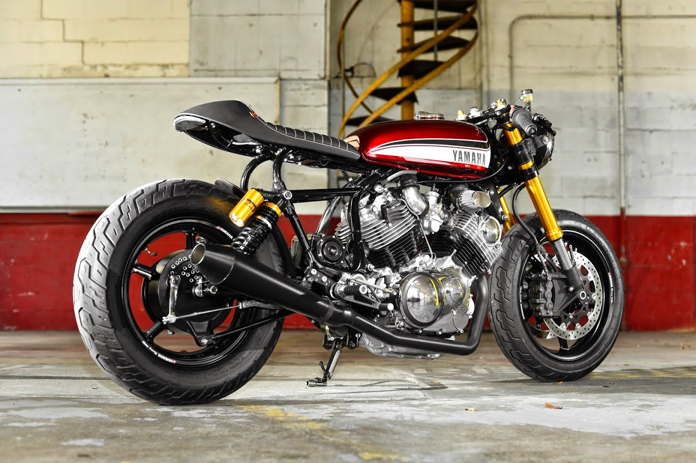 racing caf yamaha xv 750 virago by hageman motorcycles. Black Bedroom Furniture Sets. Home Design Ideas