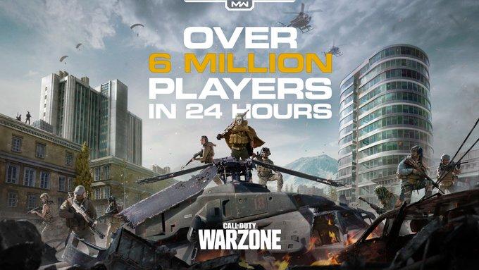Gratis, Call of Duty: Warzone Telah Dimainkan Oleh 6 Juta Player dalam Sehari