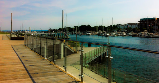 Harbor Point Board Walk in Stamford  CT