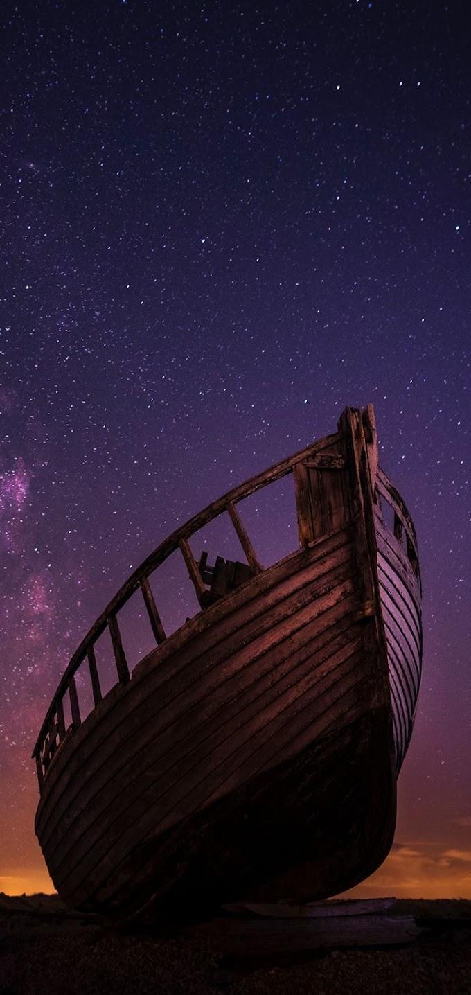 Celular Imagem Barco Abandonado