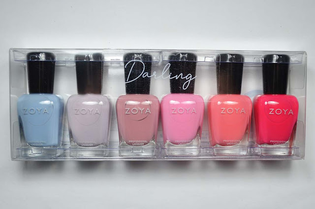 nail polish bottles in collection packaging