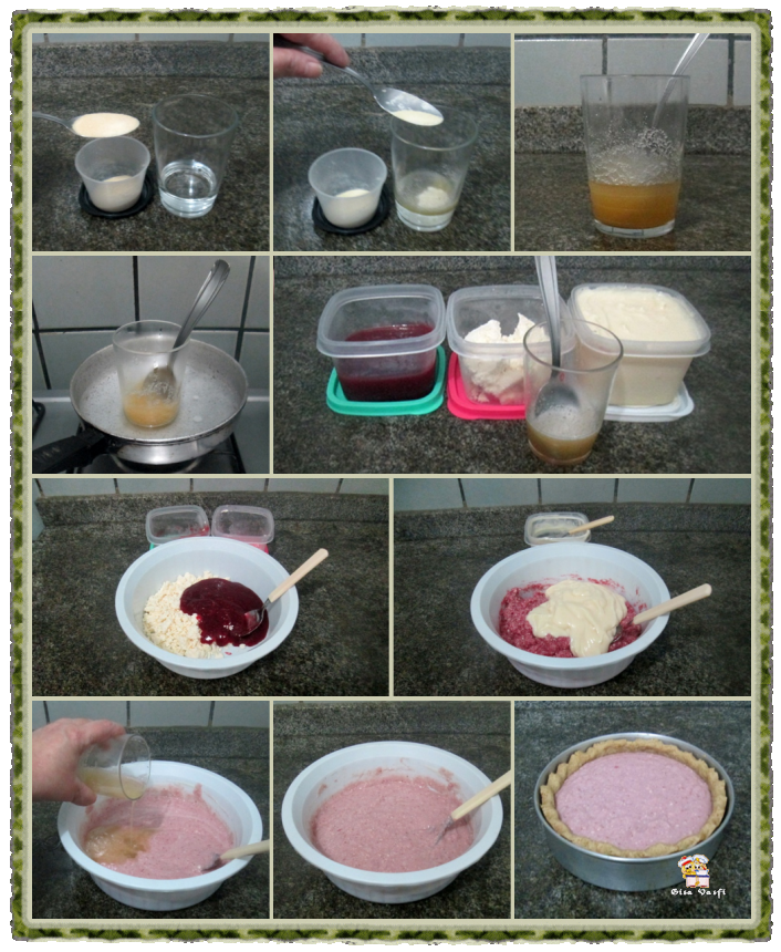 Torta cheese cake de morangos 7