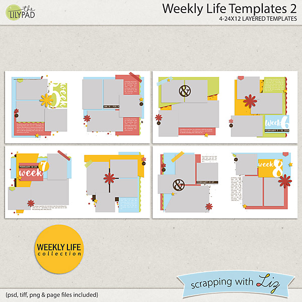 http://the-lilypad.com/Weekly-Life-2-Digital-Scrapbook-Templates.html
