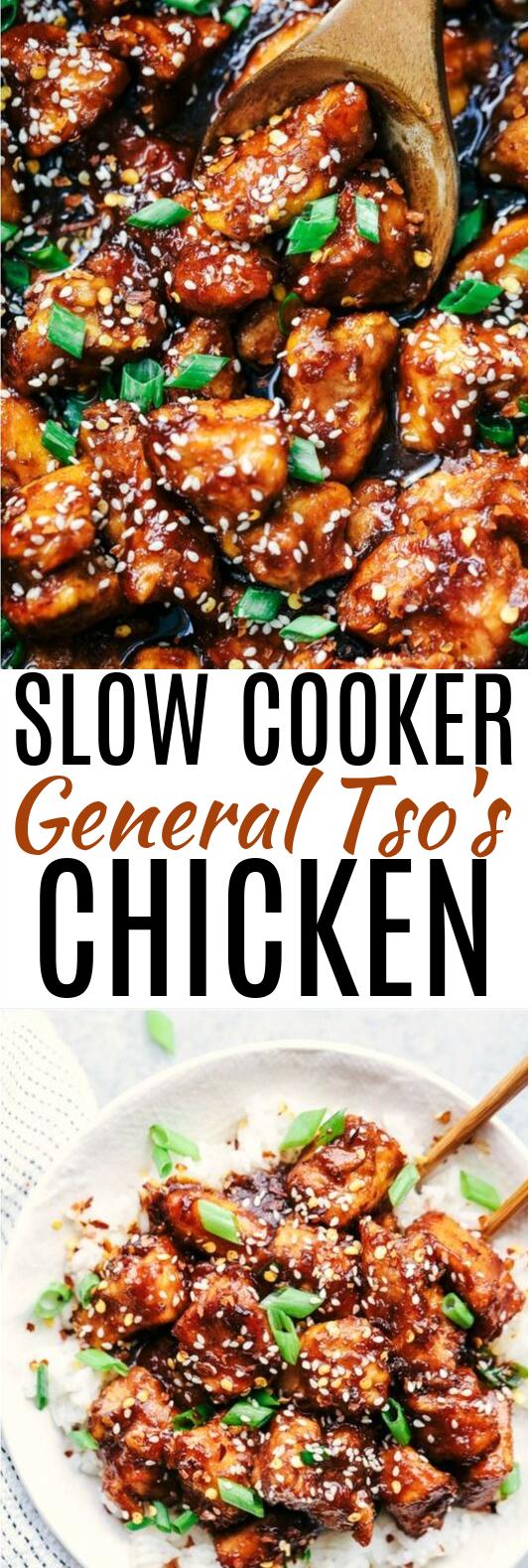 Slow Cooker General Tso's Chicken #dinner #chicken