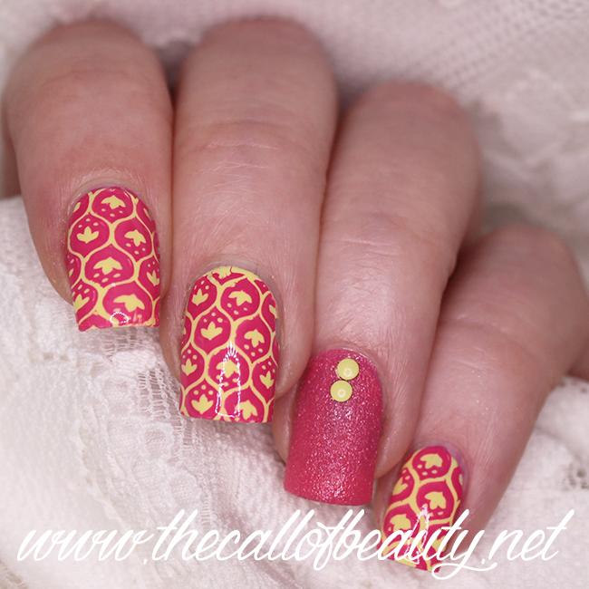 Yellow and Fuchsia Manicure