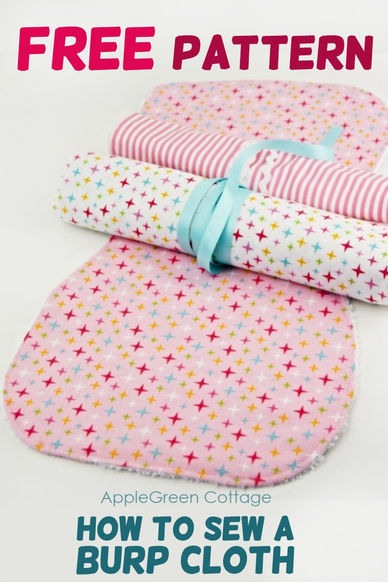 Free Burp Cloth Pattern So Cute Applegreen Cottage