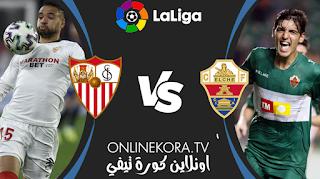 مشاهدة مباراة إلتشي وإشبيلية بث مباشر اليوم 06-03-2021 في الدوري الإسباني